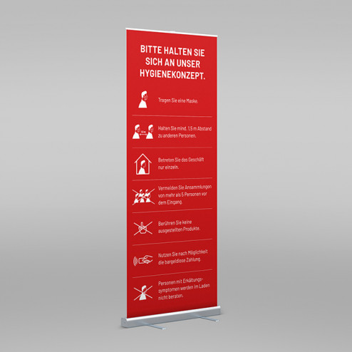 Roll-Up inkl. Druck rot
