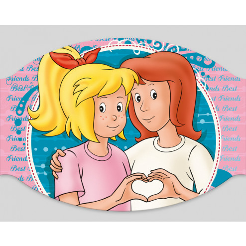 """Papier-Mundschutz - """"Bibi & Tina - Best friends"""""""