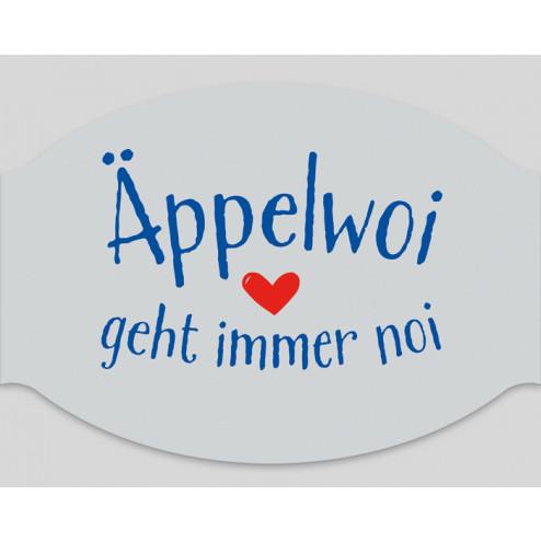 """Papier-Mundschutz - """"Äppelwoi geht immer noi!"""