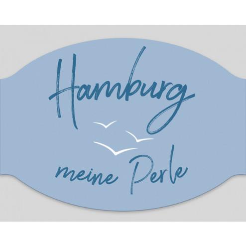 """Papier-Mundschutz - """"Hamburg meine Perle"""""""
