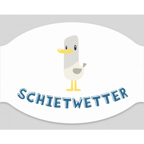 "Papier-Mundschutz - ""Schietwetter"""