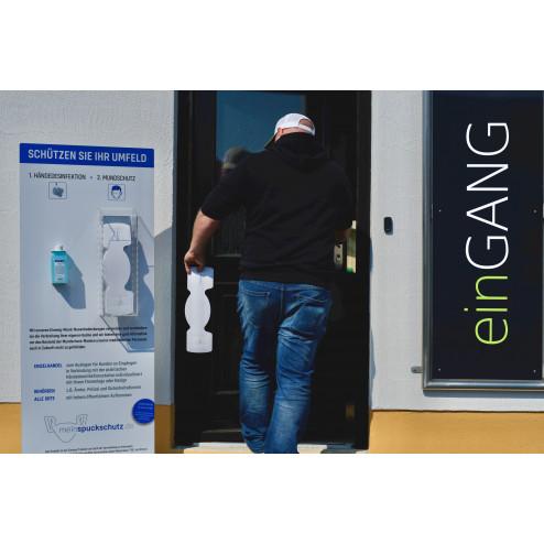 Hygienestation mit Desinfektionsmittel zum Selbst Gestalten