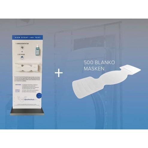 Hygienestation mit 500 Papier-Masken