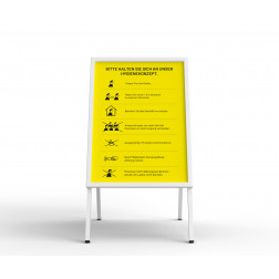 Kundenstopper - mit Plakat gelb