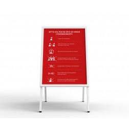 Kundenstopper - mit Plakat rot