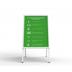Kundenstopper - mit Plakat grün