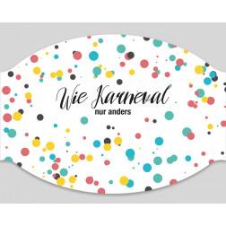"Papier-Einwegmaske ""Wie Karneval..."""