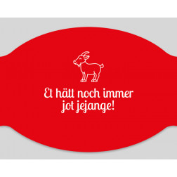 "Papier-Einwegmaske ""Et hätt noch immer jot jejange - rot!"""
