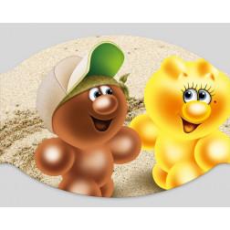 """Papier-Mundschutz -""""Gelini -Sand"""""""