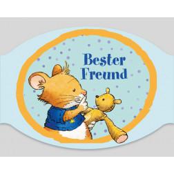 "Papier-Mundschutz - ""Leo Lausemaus -Bester Freund"""