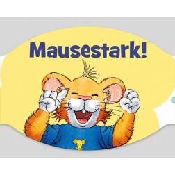 """Papier-Mundschutz - """"Leo Lausemaus - Mausestark"""""""