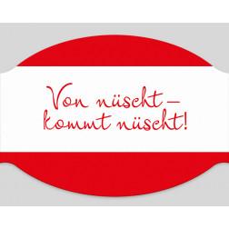 """Papier-Mundschutz - """"Von nuescht kommt nuescht"""""""