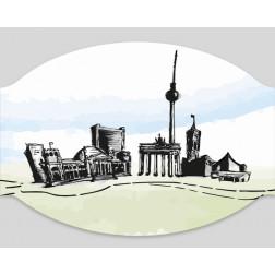 "Papier-Mundschutz - ""Skyline Berlin"""