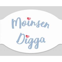 """Papier-Mundschutz - """"Moinsen Digga"""""""